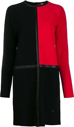 Karl Lagerfeld Vestido color block de tricô - Preto