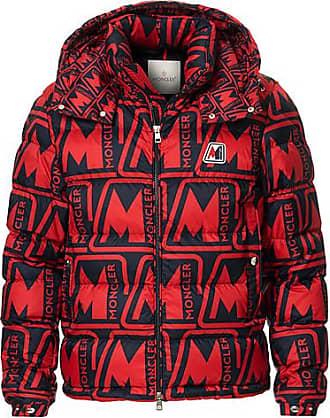 Moncler Frioland Hooded Down Jacket Red/Multi