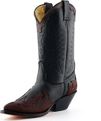 77e629c0f Grinders Arizona Black Burgundy Cowboy Western Leather Knee High Biker Boots  42