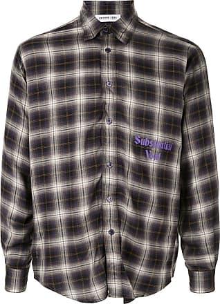 Ground-Zero Camisa Substantial Void checked - Roxo