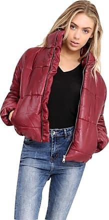 Momo & Ayat Fashions Ladies Girls Short Padded Puffa Puffer Bubble Bomber Jacket UK Size 8-14 (UK 14 (EUR 42), Wine)