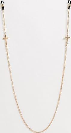Icon Brand Catenina per occhiali da sole oro con ciondoli a croce