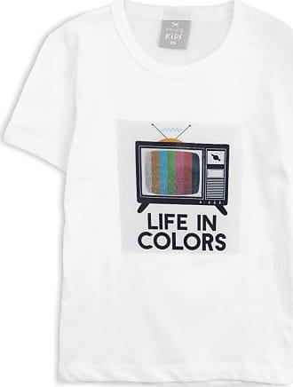 Hering Kids Camiseta Hering Kids Infantil Tv Branca
