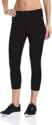 Jockey Womens Capri Legging with Wide Waistband, Deep Black, Small