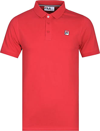 Fila Mens Brizzi Waffle Collar Polo Shirt - Red - X-Large