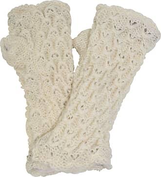 Gheri Womens Warm Woolen Fleece Lined Hand Knitted Mittens Gloves Handwarmers CR
