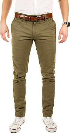 Yazubi Mens Chinos Pants Dustin Trousers with Belt Big and Tall - Belted Pure Chino Trousers Button Lime Olive Khaki, Dusky Green (4R170517), W40/L36