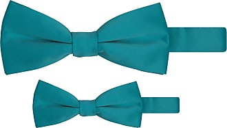 Jacob Alexander Matching Father Son Mens Boys Bow Tie Set - Teal Green