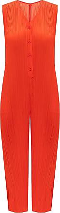 Issey Miyake Sleeveless Jumpsuit Womens Red