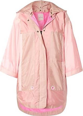 Moncler Hooded Grosgrain-trimmed Paneled Shell Parka - Pink