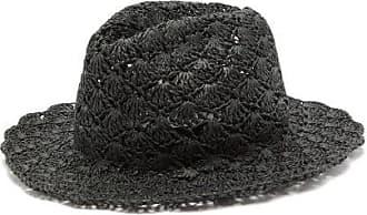 Reinhard Plank Eli Paper-straw Fedora Hat - Womens - Black