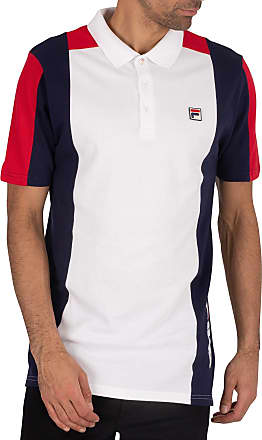Fila Mens Apache Archive Polo Shirt, White, XL