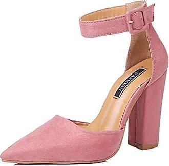 Damen Schuhe Leder Sommer Pumps Komfort Sandalen Blockabsatz
