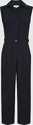 Reiss Abella - Utility Jumpsuit in Navy, Womens, Size 10