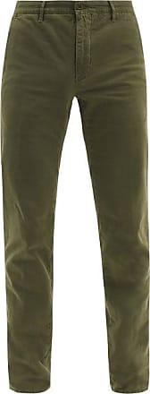 Incotex Cotton-blend Slim-leg Chino Trousers - Mens - Green