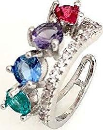 Vivid Brinco Vivid Piercing Fake Duplo Colors Folheado a Ródio semi jóia