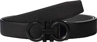 Salvatore Ferragamo Adjustable/Reversible Belt - 679939 (Black/Hickory 1) Mens Belts