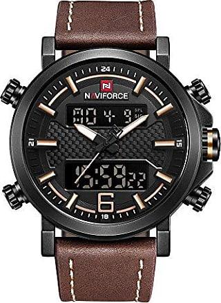 NAVIFORCE Relógio Masculino Naviforce 9135 (Preto Marrom)