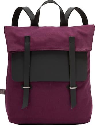 DuDu Grand sac à dos en toile et cuir pour ordinateur portable avec fermeture magnétique et bretelles réglables Prune
