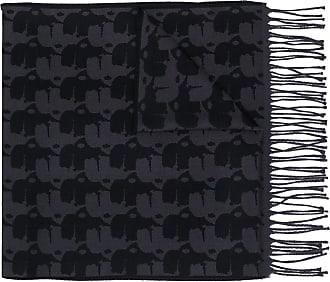 Karl Lagerfeld printed scarf - Azul