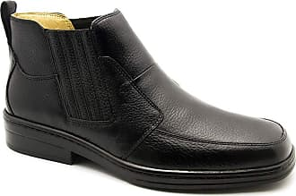 Doctor Shoes Antistaffa Botina Masculina 915 em Couro Floater Preto Doctor Shoes-Preto-43