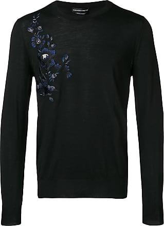 Alexander McQueen floral embroidered jumper - Black