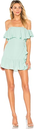Superdown Jolene Ruffle Wrap Dress in Green