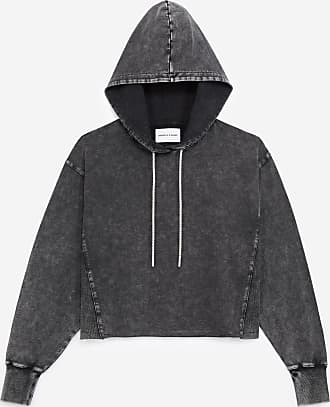 The Kooples Faded grey hoodie with rhinestone detail - WOMEN