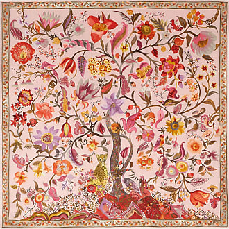 Salvatore Ferragamo Women Tree of Life print silk scarf Pink