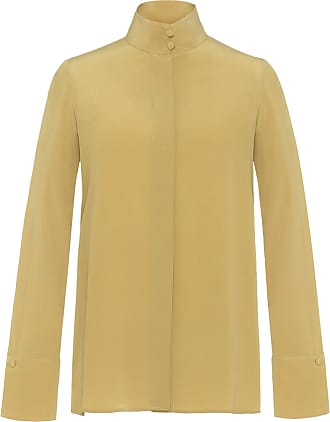 The Crocale Hande Silk Blouse Yellow