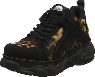 Buffalo Corin, Womens Low-Top Sneakers, Multicolour (Leopard/Black 001), 3.5 UK (36 EU)