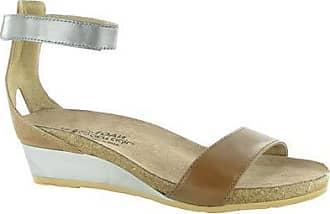 Naot Naot Womens Pixie Wedge Sandal, Maple Brown Combo, 42 M EU