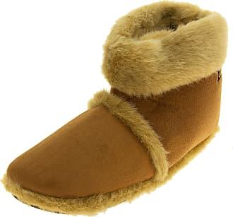 Footwear Studio Mens Coolerstan Faux Fur Lined Faux Suede Boot Slippers UK 9-10