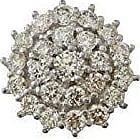 Prado Joias Pingente Em Ouro 18k Ponto de Luz De Diamantes