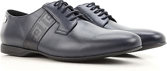 Versace Lace Up Shoes for Men Oxfords, Derbies and Brogues On Sale, Blue Denim, Leather, 2017, 10 10.5