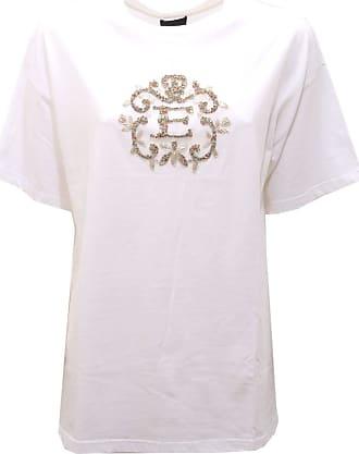 Ermanno Scervino 7246AC Maglia Donna White Cotton t-Shirt Woman [40]