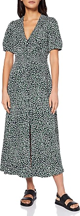 French Connection Womens CADE Drape Business Casual Dress, Forest Green Multi, 10