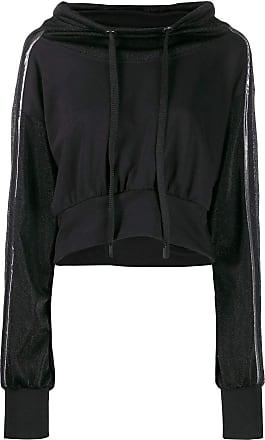 No Ka'Oi Kurzer Hoodie Silver Black Stripe - XS / BLACK