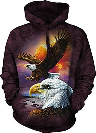 The Mountain Eagle & Clouds Hsw Adult Hoodie, Brown, Large