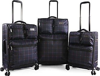 Original Penguin Norton 3pc Expandable Suitcase Set with Spinner Wheels, Navy Plaid