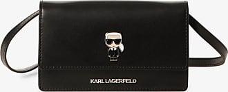 Karl Lagerfeld Damen Umhängetasche aus Leder schwarz