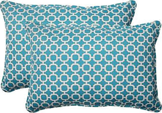 Pillow Perfect Outdoor Hockley Corded Oversized Rectangular Throw Pillow, Teal, Set of 2
