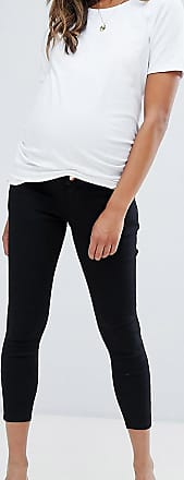Asos Maternity ASOS DESIGN Maternity Petite Ridley high waisted skinny jeans in clean black with over the bump waistband
