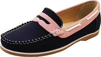 Footwear Studio Shoreside Womens Loafers Navy/Pink UK 5