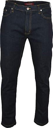 Relco Mens London Slim Fit Stretch Jean Zip Fly - Dark Indigo Blue