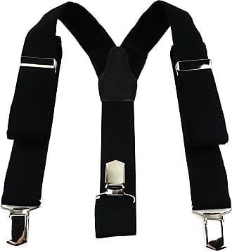 TigerTie Mens Plain Braces - Black - One size