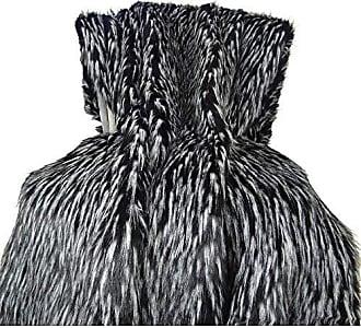 Plutus Brands Wolf Fur Throw Pillow 80 x 90 Black/White