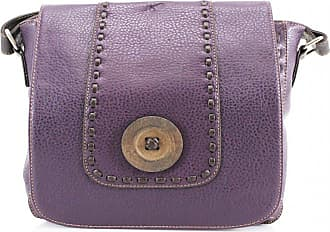 Craze London Womens Trendy Faux Leather Button Detail Small Messenger Bag/Ladiess Bags/Crossbody bags for womens (Purple)