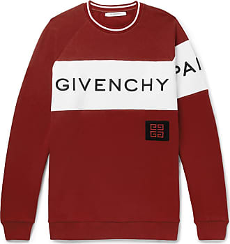 Givenchy Logo-embroidered Fleece-back Cotton-jersey Sweatshirt - Red