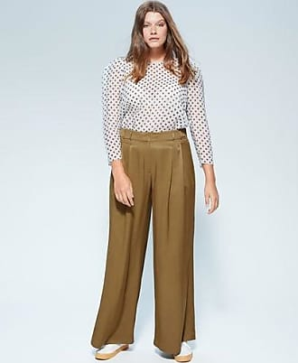 Violeta by Mango Pleat detail trousers